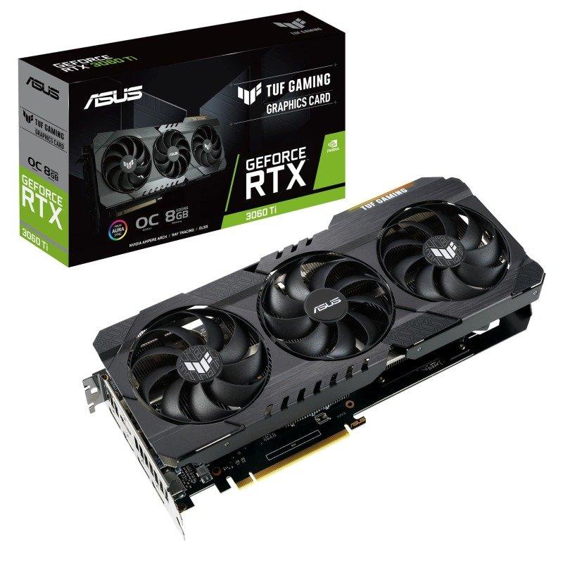 Asus GeForce RTX 3060 Ti 8GB GDDR6 TUF GAMING OC Ampere Graphics Card