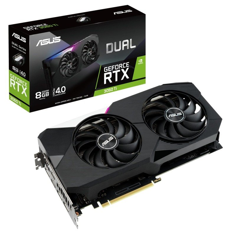 Asus GeForce RTX 3060 Ti 8GB GDDR6 DUAL Ampere Graphics Card