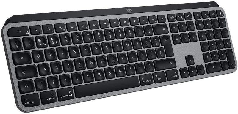 Image of Logitech MX Keys Wireless Keyboard for Mac - Space Grey