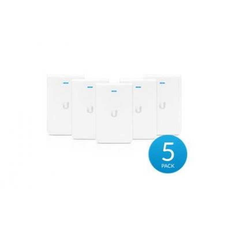Ubiquiti Unifi - Dual Band - In wall access point with 3 Gigabit Ethernet Port - 5 Pack