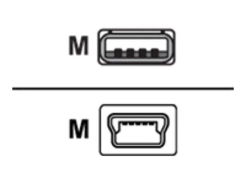 Belkin 3m USB (M) to mini-USB Type B (M) Cable - Charcoal