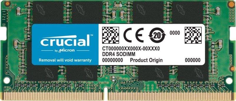 Crucial 16 GB (DDR4, 3200 MT/s, PC4-25600, SODIMM, 260-Pin) Memory