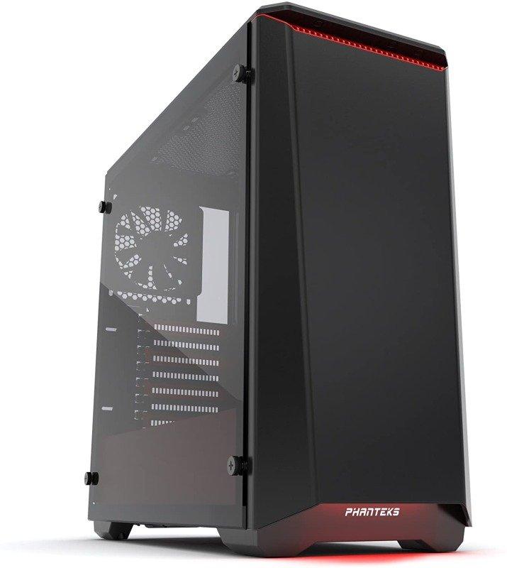 Phanteks Eclipse P400 Glass Midi Tower Case - Black/Red