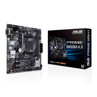 ASUS AMD PRIME B450M-K II AM4 PCIe 3.0 mATX Motherboard