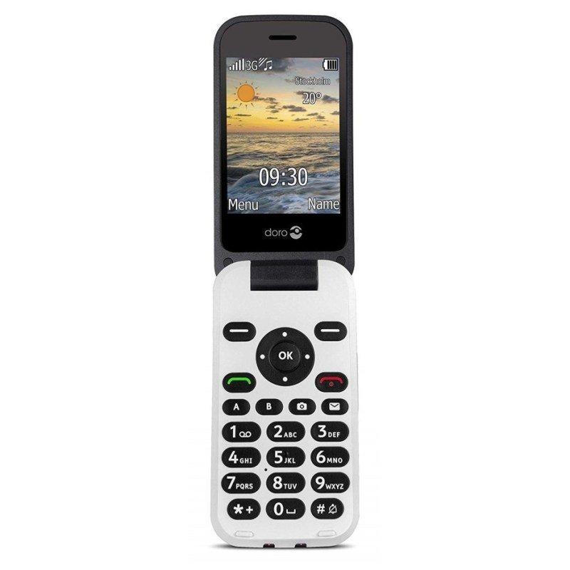 "Doro 6620 2.8"" 128MB 3G Mobile Phone - Black"