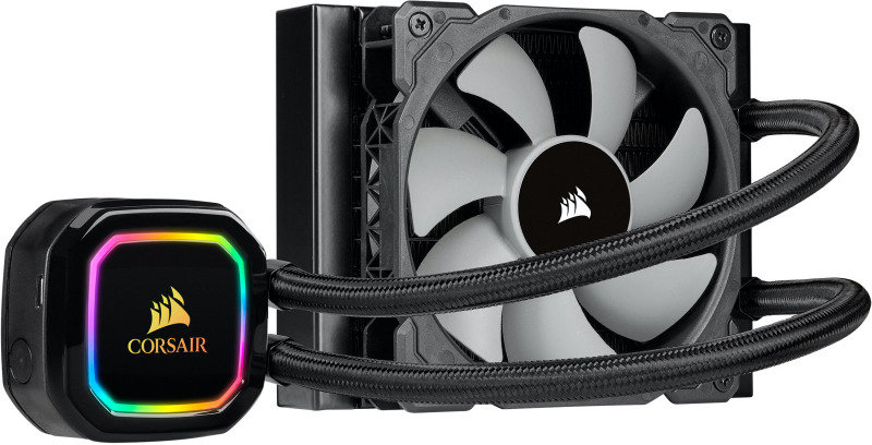 Corsair iCUE H60i RGB Pro XT, 120mm Radiator, Single 120mm PWM Fan, Liquid CPU Cooler