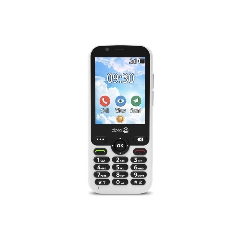 """Doro 7010 2.8"""" 512MB 4G Mobile Phone - White"""