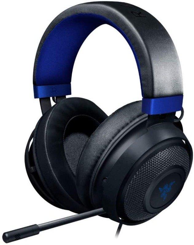 Razer Kraken Gaming Headset: Lightweight Aluminum Frame, Retractable Noise Isolating Microphone, For PC, PS4, Nintendo Switch, 3.5 mm Headphone Jack, Classic Black/Blue
