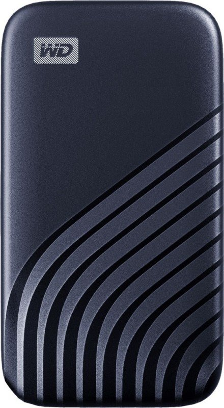 WD 500GB My Passport SSD - Portable SSD, up to 1050MB/s Read and 1000MB/s Write Speeds, USB 3.2 Gen 2 - Midnight Blue