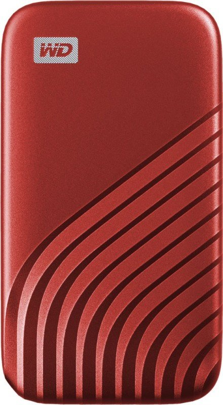 WD 500GB My Passport SSD - Portable SSD, up to 1050MB/s Read and 1000MB/s Write Speeds, USB 3.2 Gen 2 - Red