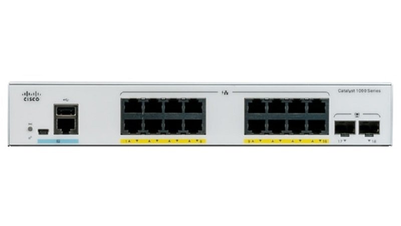 Cisco Catalyst 1000-16P-2G-L - Switch - 16 ports - Managed - Rack-mountable