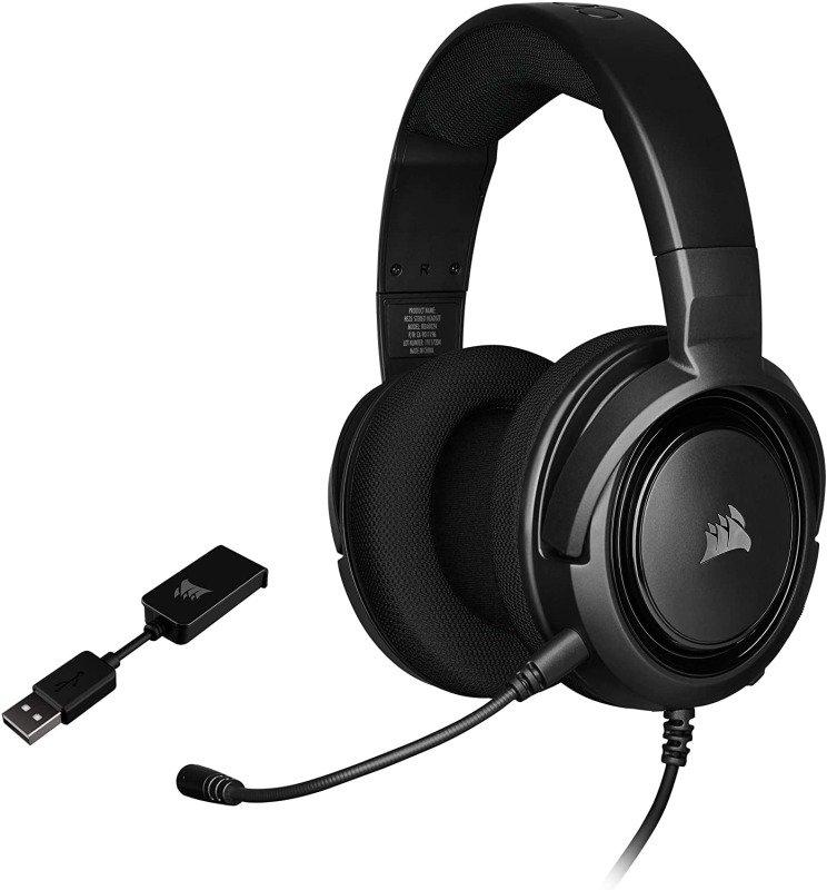 Corsair HS45 Surround Gaming Headset  Carbon - Refurbished by Corsair