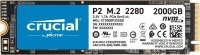 Crucial P2 2TB Internal SSD, Up to 2400 MB/s (3D NAND, NVMe, PCIe, M.2)