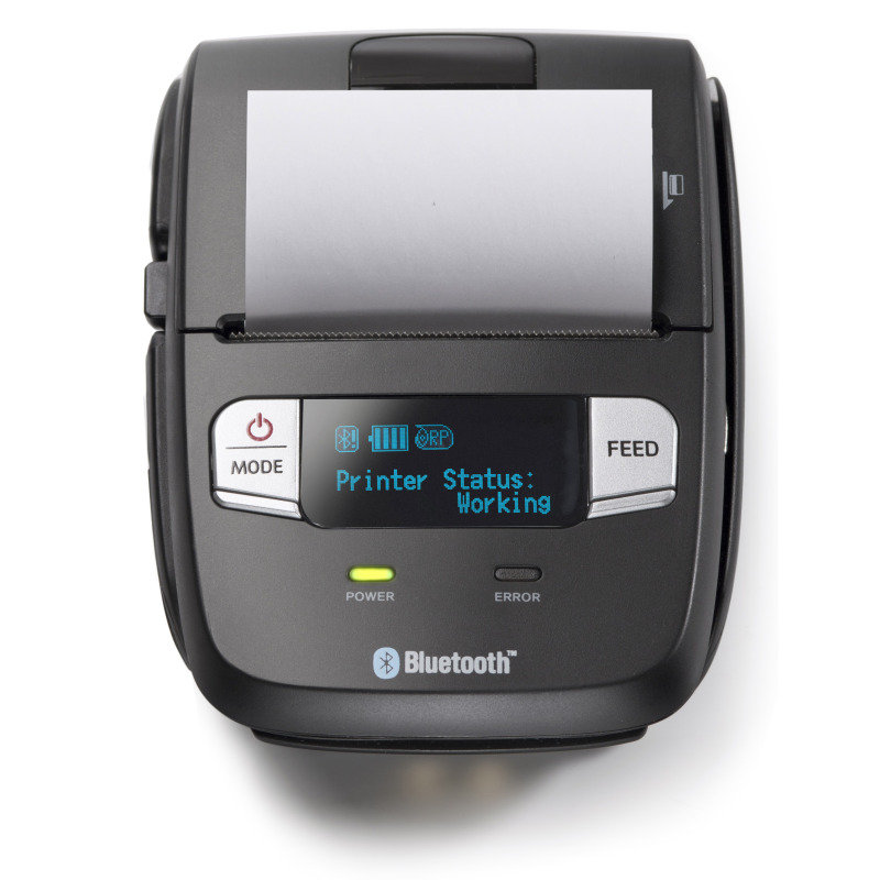 2 58mm Mobile Receipt Printer, Bluetooth 4.0 BLE, iOS, Android,