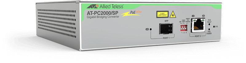 Allied Telesis PC2000/SP Transceiver/Media Converter 1 x PoE+ (RJ-45) Port