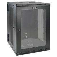 Tripp Lite SmartRack 18U Low-Profile Switch-Depth Wall-Mount Rack Enclosure Cabinet