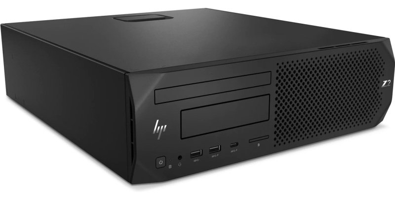 Image of HP Z2 G4 SFF Workstation Desktop PC, Intel Core i7-9700 3GHz, 16GB 2666MHz DDR4, 512GB SSD PCIe, DVDRW, Intel UHD, Windows 10 Pro (64bit)