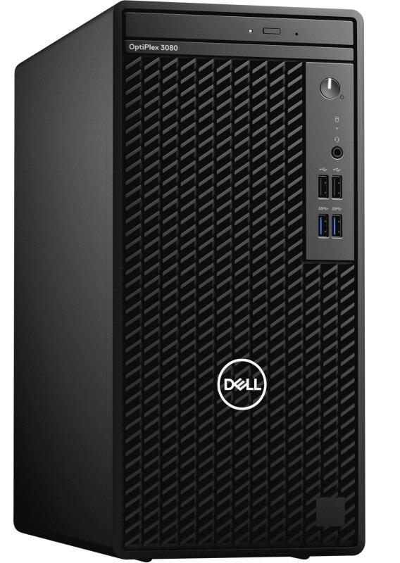 Image of Dell OptiPlex 3080 MT Desktop PC, Intel Core i5-10500 3.1GHz, 8GB RAM, 1TB HDD, DVDRW, Intel UHD, Windows 10 Pro 64-bit