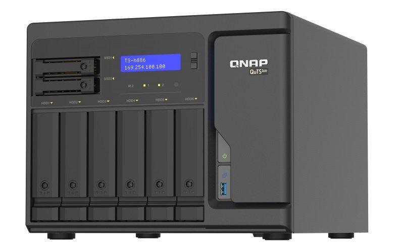 QNAP TS-h886-D1622-16G 8 Bay Desktop NAS Enclosure w/ 16GB RAM