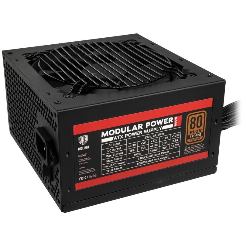 Kolink Modular Power 600W 80 Plus Bronze Modular Power Supply