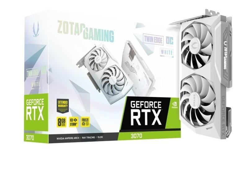 Zotac GeForce RTX 3070 8GB Twin Edge OC White Edition Ampere Graphics Card