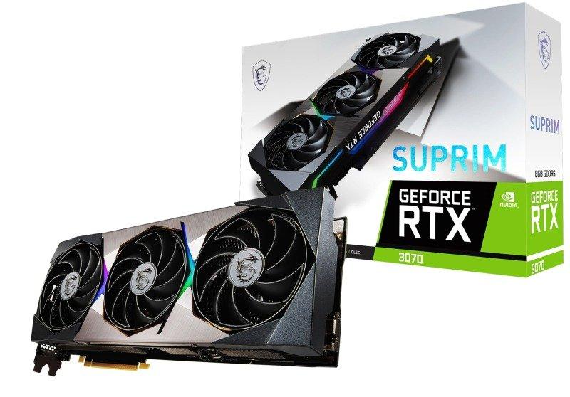 MSI GeForce RTX 3070 SUPRIM 8GB Ampere Graphics Card