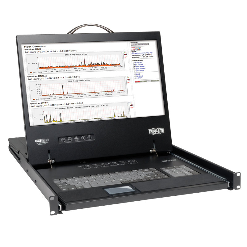 Tripp Lite NetController 16-Port 1U Rack-Mount Console KVM Switch with 19'' LCD