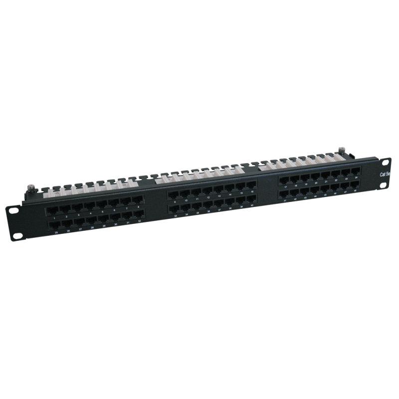 Tripp Lite 48-Port 1U Rack-Mount Cat6/Cat5 High Density 110 Patch Panel