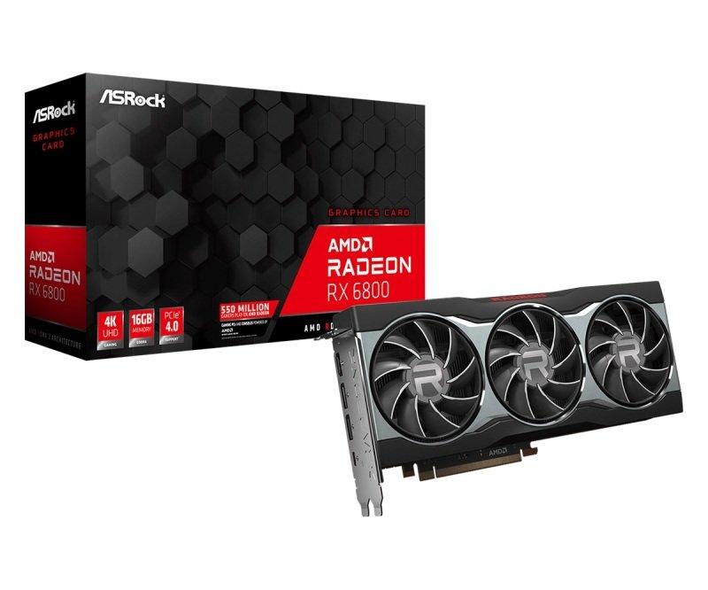 ASRock Radeon RX 6800 16GB Graphics Card