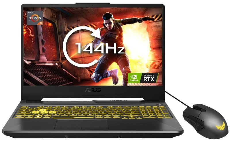 "Image of Asus TUF Gaming A15 Ryzen 9 16GB 1TB SSD RTX 2060 15.6"" Win10 Home Gaming Laptop - With Gaming Mouse"