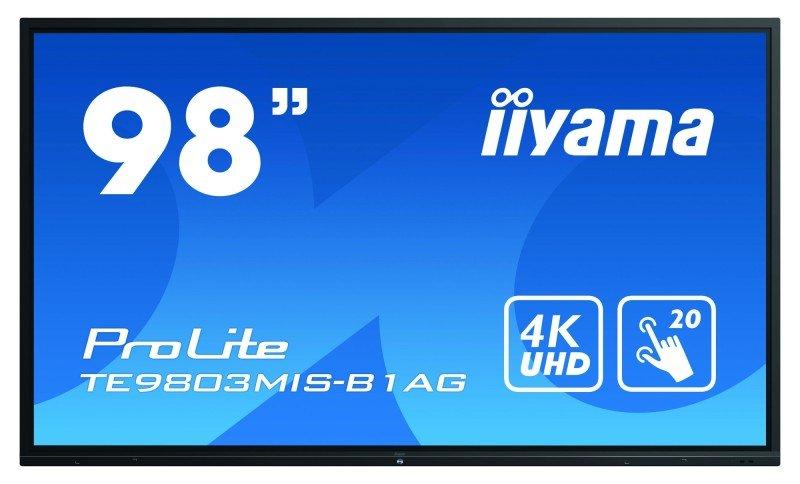 "Iiyama 98"" ProLite TE9803MIS-B1AG - Interactive 4K LED Display"