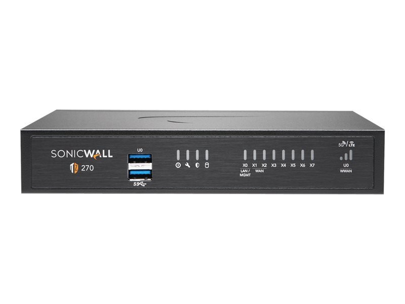 SonicWall TZ270 - Essential Edition - Security Appliance - with 1 Year TotalSecure