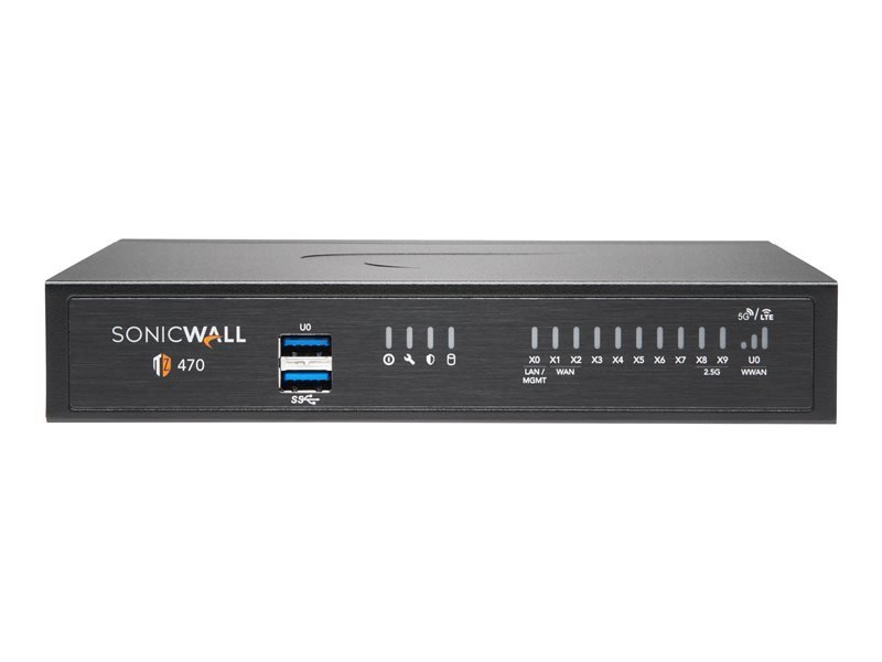 SonicWall TZ470 - Essential Edition - Security Appliance - with 1 Year TotalSecure