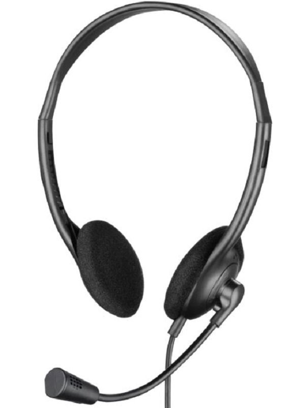 Sandberg Black USB Headset with Boom Microphone