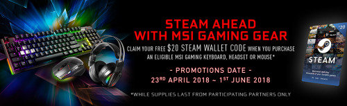 Steam ahead with MSI Gaming Gear