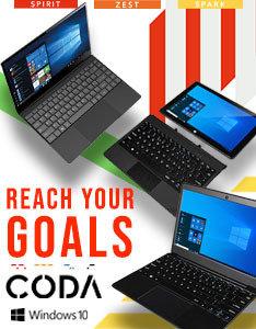 CODA laptops - Reach your goals